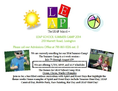 LEAP Summer Camp Ad half page