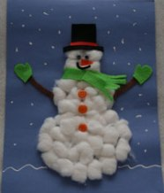 cotton-ball-snowman