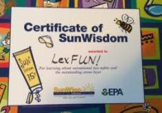 Sun Wise certificate