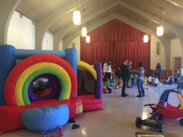 Drop in center with bouncy house