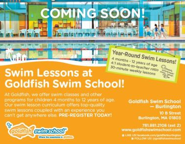 Goldfish swim school