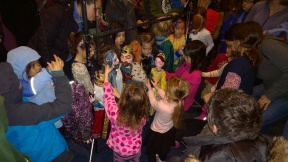 Children were invited to investigate the puppets...